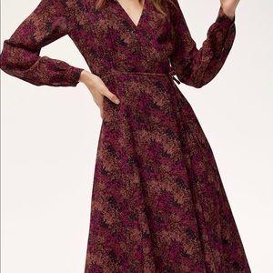 NWT Wilfred for Aritzia Lina Wrap Dress Sz Medium